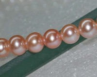 Highly Polished Natural Pink AAA 7 8mm Round Freshwater Pearl 11578