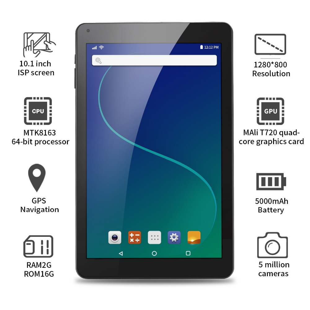 Aoson R102 tablet 10.1 inch 2GB+32GB Quad Core Tablets Android 6.0 Quad Core MTK Tablet PC Dual Cameras WIFI Bluetooth GPS homtom ht17 5 5 inch smartphone quad core phones android 6 0 dual cameras 4g