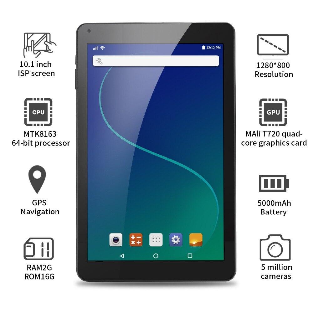 Aoson R102 tablet 10.1 pouce 2 gb + 32 gb Quad Core Comprimés Android 6.0 Quad Core MTK Tablet PC double Caméras WIFI Bluetooth GPS