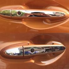 цена на For Honda HR-VFor Honda HRV VEZEL 2014 2015 2016 2017 Stainless steel Car Door Handle Covers cover trim sticker Accessories