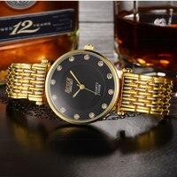 Genuine tungsten steel watch waterproof 2018 new fashion trend simple atmosphere rose gold quartz watch