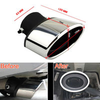 Car Styling 2 Pcs Stainless Steel Car Tail Rear Round Exhaust Pipe Tailpipe Muffler Tip For