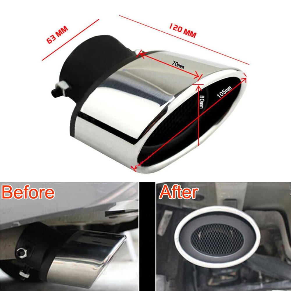 Car styling 2Pcs Stainless Steel Tail Rear Round Exhaust Pipe Tailpipe Muffler Tip For Mazda M6 2003-2008 car accessaries