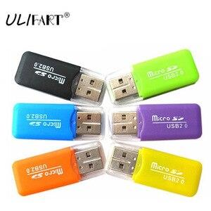 ULIFART 300 шт./лот DHL Бесплатная доставка 100% Новый USB 2,0 Micro SD TF кардридер USB 1,1 & 2,0 для Micro SD карты