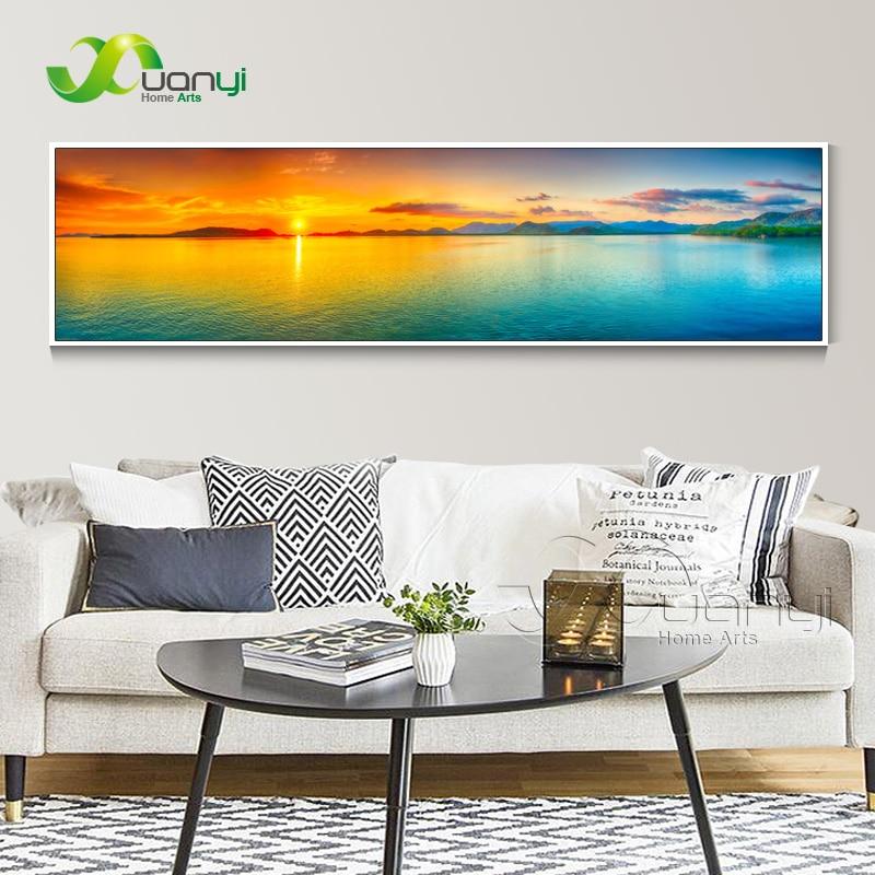 Zalazak sunca More Seascape Canvas Slikarstvo Cuadros Kućni ukras - Kućni dekor - Foto 2