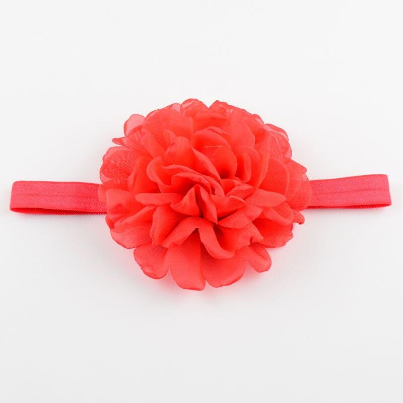 20pcs/lot Handmade Burned Flowers Headbands For Girls Singed flowers Wedding Chiffon Flower Supplies