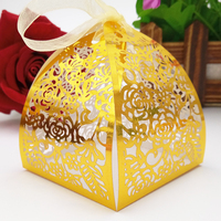 50p Lace Flower Design Laser For Guests Wedding Favors And Gifts Party Decorations Cutting Wedding Candy Box Wedding Gifts 5ZT09