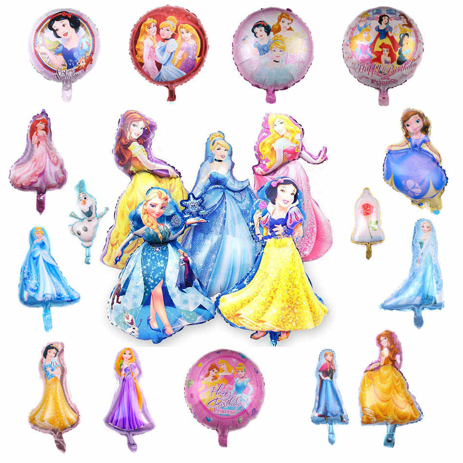 Princess Party Foil Balloon For Girls Baby Shower Helium Balloon Birthday Party Decorations Wedding Decorations