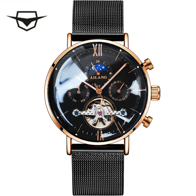 AILANG 2019 latest design Minimalist tourbillon men's automatic watch Swiss gear S wrist watches quality diesel mechanical watch
