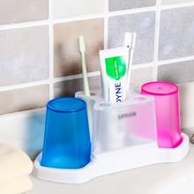 Fashion Translucent frosted wash gargle cup suit toothpaste tooth brush holder 28*8.5*11cm free shipping