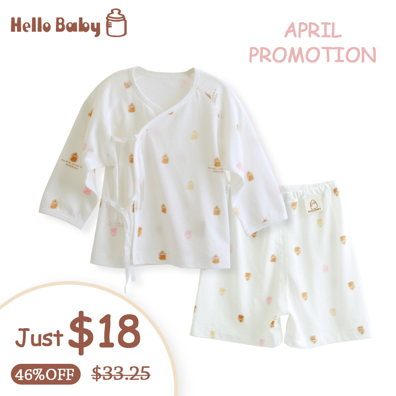 HelloBaby newborn infant clothing and gown, bamboo fiber clothing summer hot weather special lace blouse and robe coat Environme