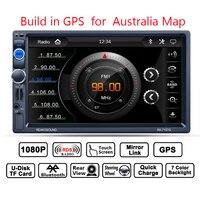 GUBANG 2DIN Car GPS Navigation with 8GB Map of Australia card HD Car MP5 Player Digital Radio Touch Screen