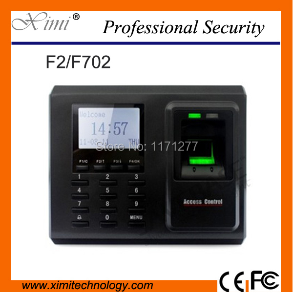 Mifare fingerprint access control time record machine TCP/IP communication and optical sensor shool factory office equipment F2 f2 tcp ip 3000 users fingerprint sensor free software biometric fingerprint access control