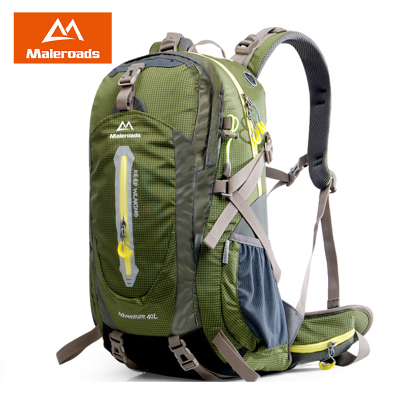 Maleroads 50L 40L Camping Hiking Backpack Waterproof Travel Mochilas Teenagers Sport Mountain Climbing Bags Pack For