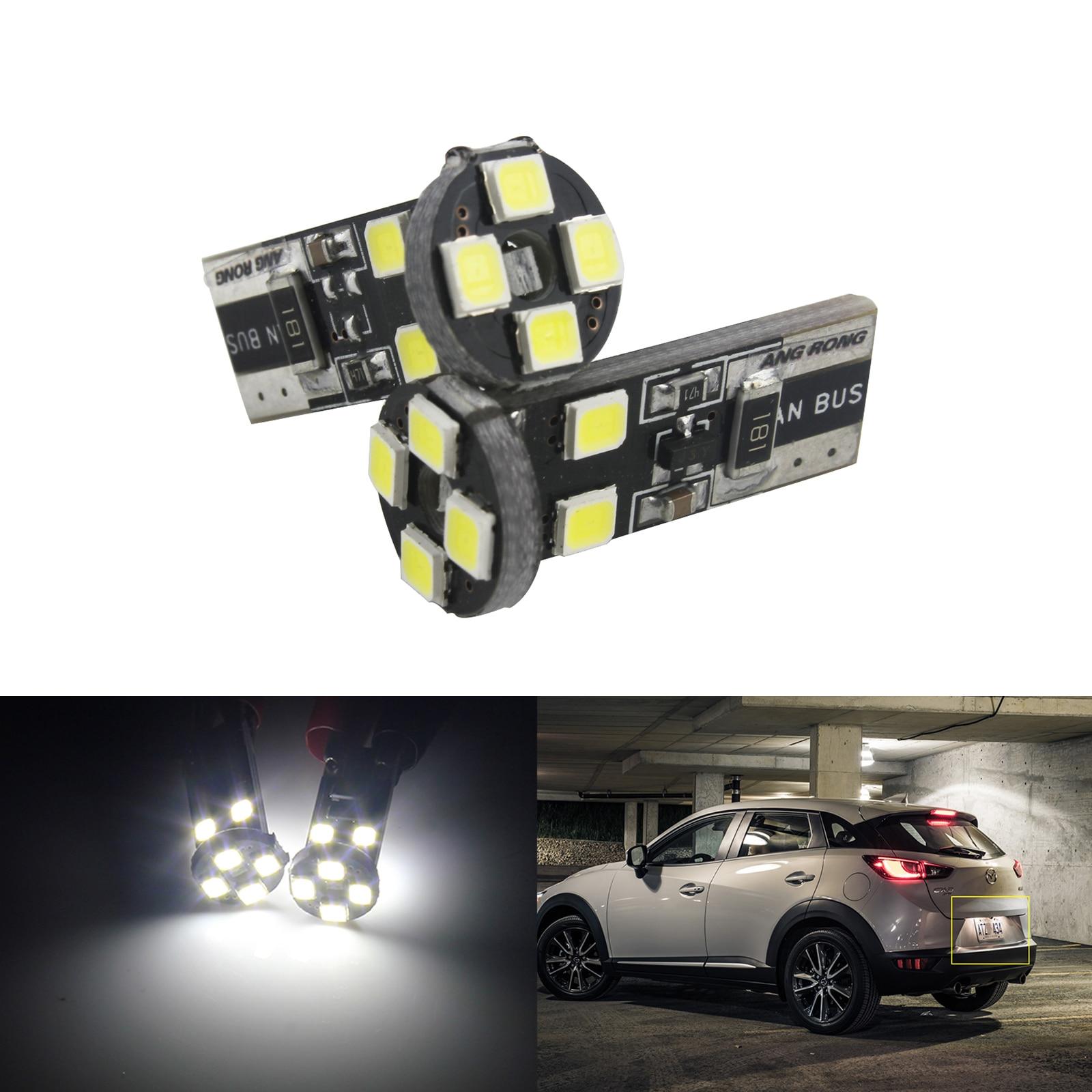 x2 Xenon White Sidelights//Interior Dome Light 8 LED Bulb Upgrade 501 T10 W5W