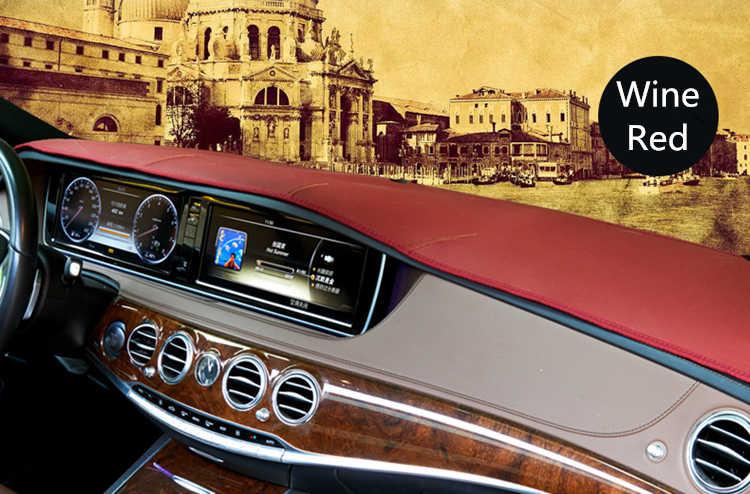 Dla mercedes-benz klasy E W212 S212 W213 E200 E300 E320 skórzane Dashmat pokrywa deski rozdzielczej Pad mata na deskę rozdzielczą osłona przeciwsłoneczna 2009-2019