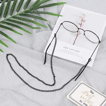 1Pcs Vintage Glasses Chain Holder Women Men Fashion Black Sunglasses Eyeglass Neck Cord Retainer Strap Eyewear Spectacles Holder