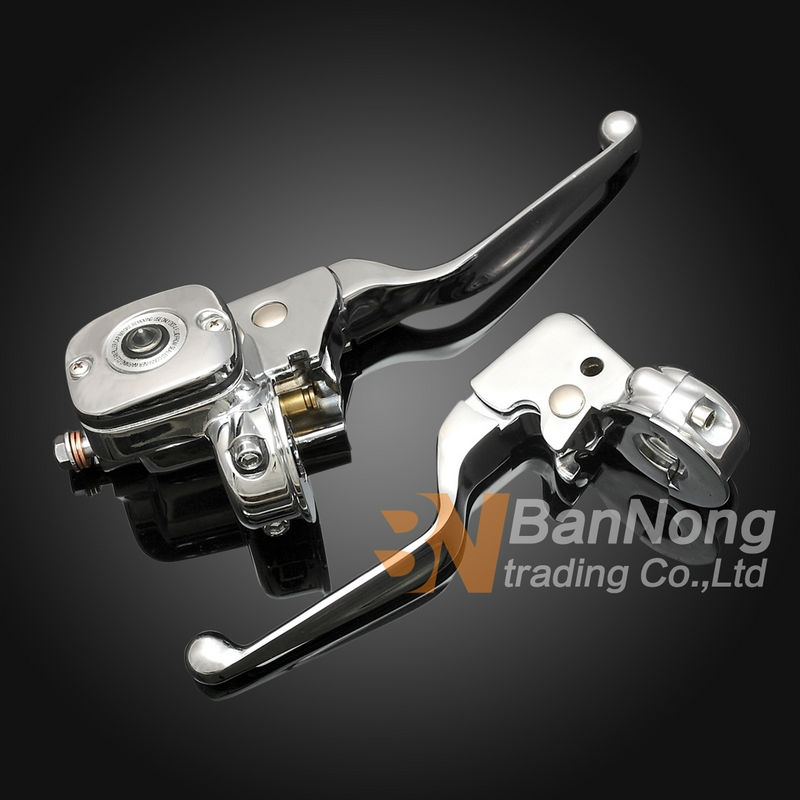 Free shipping Motorcycle Clutch Lever&brake pump Master Cylinder For Harley Davidson Softail Deluxe Road King Fat boy breakout motorcycle front brake master cylinder cover for harley davidson touring 1996 2007 chrome black