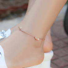 Wholesale Sterling Silver Anklet With Custom Name Heart Fashion Pretty Danity Anklets Personalized Nameplate Jewelry