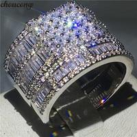 Choucong Luxury Promise Ring set принцесса 5A Циркон Cz 925 пробы серебро Обручение обручальное кольцо кольца для Для женщин Для мужчин подарок