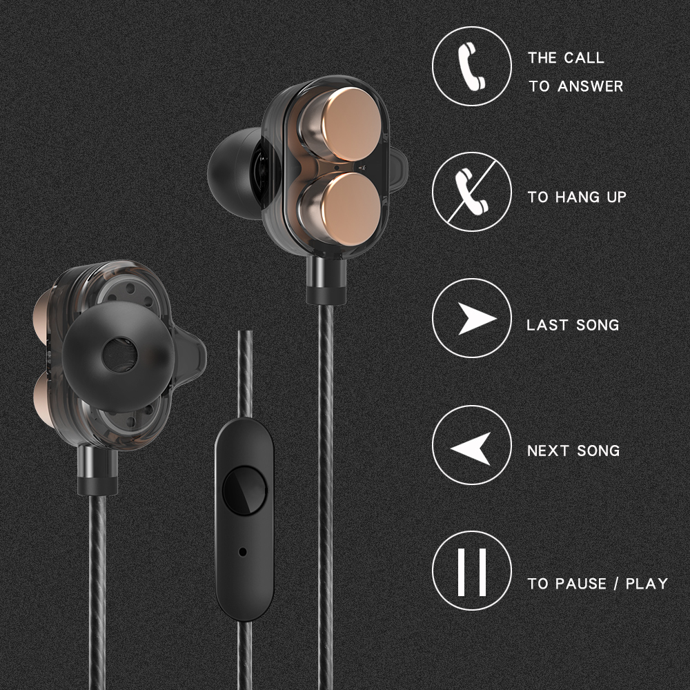 ISKAS Headphones With Microphone Bass Head Phone Sport Pc Game Quad-core New Pc Electronics Phone Cell Phones Dynamic Good 3143