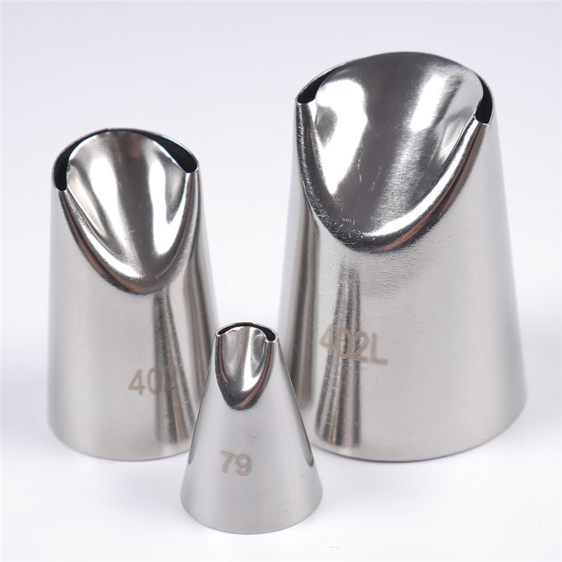 3Pcs Flower Cream Cake Decorating Tips Set High Quality Stainless Steel Icing Nozzles For Cupcakes Dessert Decorators