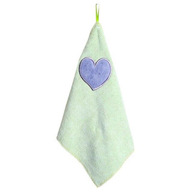 Bambini Scuola Materna A Mano Asciugamano Morbido Peluche Arco Appeso Pulire Asciugamano Da Bagno Cucina Asciugandosi Purga Pad Bagno di Lavaggio Canovaccio