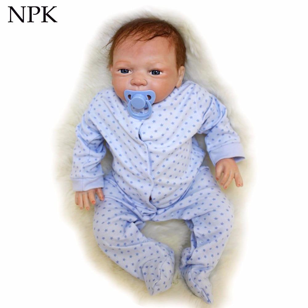 NPK silicone souple reborn bébé garçon poupées 20