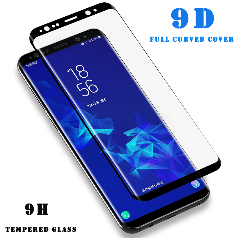 9D Tempered Protective Glass For Samsung Galaxy Note 8 9 S9 S8 Plus S7 Edge Full Curved Screen Protector For Samsung S9Plus Film9D Tempered Protective Glass For Samsung Galaxy Note 8 9 S9 S8 Plus S7 Edge Full Curved Screen Protector For Samsung S9Plus Film