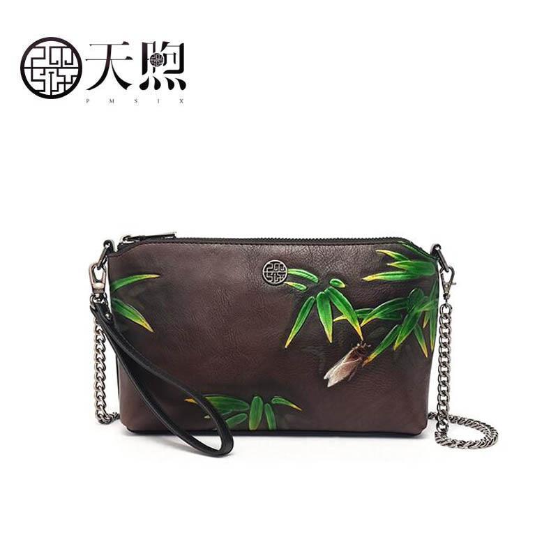 Pmsix 2019 Neue Frauen Leder Handtaschen Berühmte Marke Frauen Echtes Leder Taschen Luxus Präge Tasche Mode Kupplung Taschen Ideales Geschenk FüR Alle Gelegenheiten Gepäck & Taschen