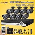 Lofam 8ch casa sistema de cftv impermeável ao ar livre sistema de câmera de segurança 8 canais ahd-l 960 h dvr cctv camera kit de vigilância por vídeo