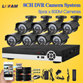 Lofam sistema home cctv 8ch sistema de cámaras de seguridad a prueba de agua al aire libre 8 canales ahd-l 960 h dvr cctv cámara kit de vigilancia de vídeo