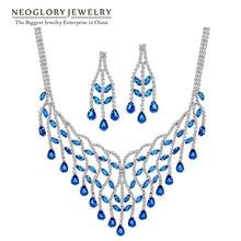 Neoglory Rhinestone Cubic Zirconia Fashion Wedding Romantic Elegant Jewelry Sets Party Engagement For Women 2016 Ne