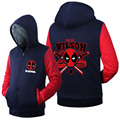 Hot New Deadpool Wade wilson Hoodie Logo Winter JiaRong Fleece Mens Sweatshirts Free Shipping