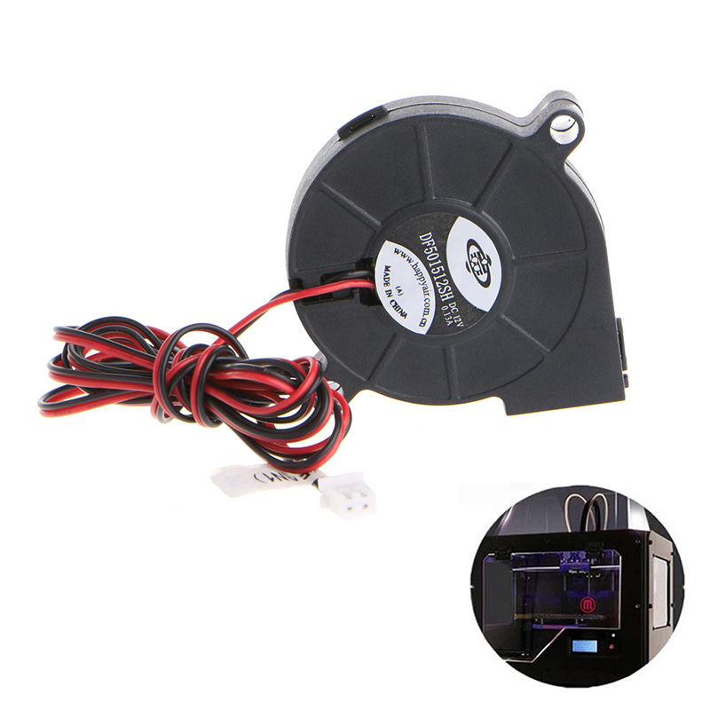 2018 1Pc 12V DC 50mm Blow Radial projector blower centrifugal fan cooling fan Hotend Extruder For RepRap 3D Printer free shipping for panaflo fba06t24h dc 24v 0 11a 3 wire 3 pin connector 60mm 60x60x15mm server square cooling fan