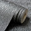 Vinyl Waterproof Natural Embossed Textured Wallpaper Coverings Modern Plain Green Beige Grey Wall Paper For Living