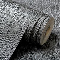 Silver Grey Black Metallic Textured Wallpaper Roll Gray Modern Striped Vinyl Plain Wall Paper White Wallcover For Bedroom Yellow