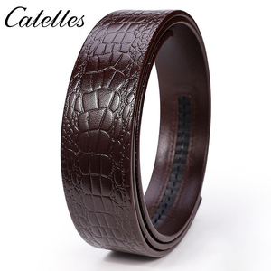 Image 4 - Catelles No Buckle 3.5cm Wide Real Genuine Leather Belt Without Automatic Buckle Strap Male Designer Belts Leather Belt Men 6045