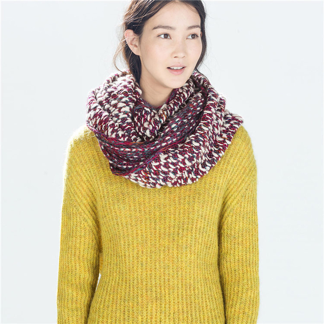 New hot! Women Spring Winter knitting Wool Collar Neck Warmer Scarf Shawl Free shipping (WJ-283-#1)