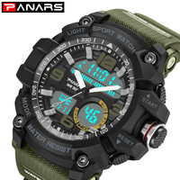 PANARS New Camouflage Military Digital watch Men's G Style Fashion Sports Shock Army Watch LED Electronic Wrist Watches for Men