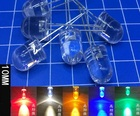 10PCS DIP 10MM LED Transparent Red Yellow Green Blue Warm White RGB hight bright F10 bulb Water Clear bead light emitting diode