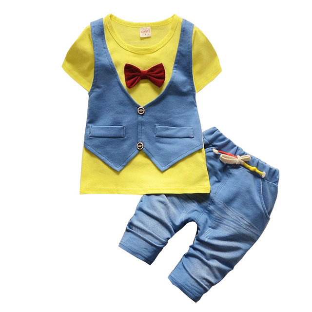 bbadb3738f14 BibiCola Baby Boy Clothing Set Summer 2017 Newborn Baby Boys Clothes ...