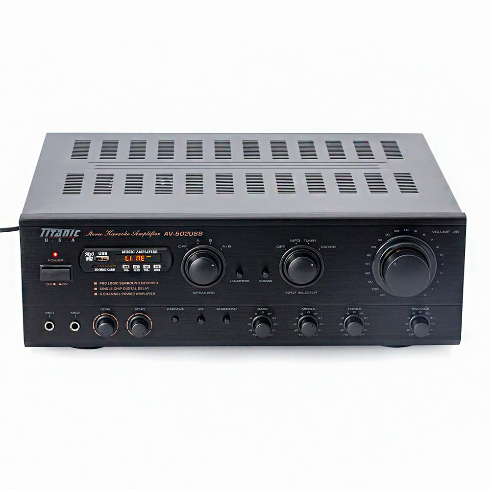 7.1 Channel 1100W High Power FM Radio USB SD Card Card Package Amplifier Home Theater Professional Stage AV Amplifier