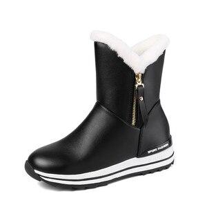 Image 4 - MORAZORA 2020 I Più Nuovi stivali da neve delle donne di tenere in caldo caviglia stivali zip punta rotonda pattini della piattaforma della donna di inverno piatto stivali nero