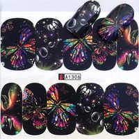 YWK 31 estilos flor Vintage uñas arte transferencia de agua calcomanías DIY consejos