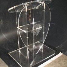 Новинка популярные свадебные специальной форме сердца акриловые подиум органического стекла Церковного Амвона