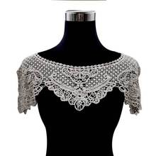 Luxury Embroidered Lace Neckline Surround Collar Trimming Dress Shawl Applique Flower Clothes Decorated DIY Sewing Supplies