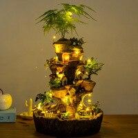 NCYP лес свет шнура Сказочный Сад, миниатюра Tree House DIY современный Садоводство Treehouse скульптура декоративный цветочный горшок большой