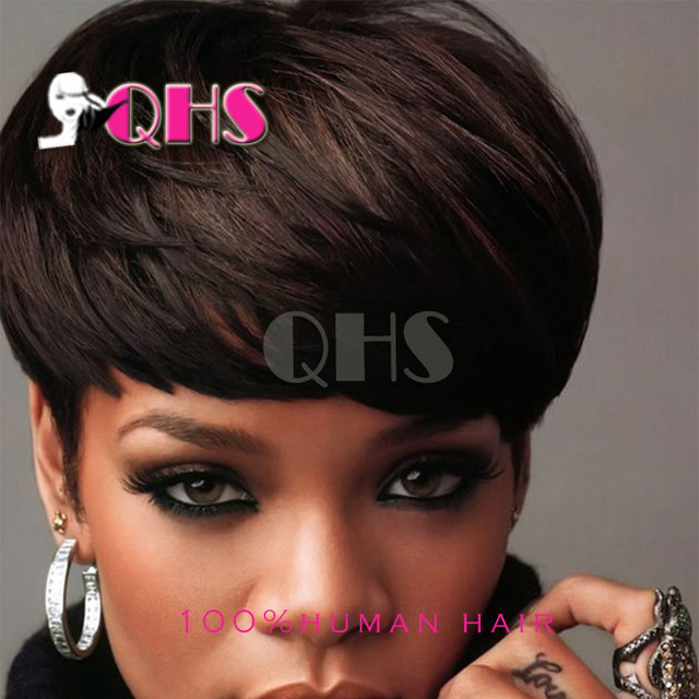 New Pixie Cut Short Human Hair Lace Wigs Glueless Lace Front 100