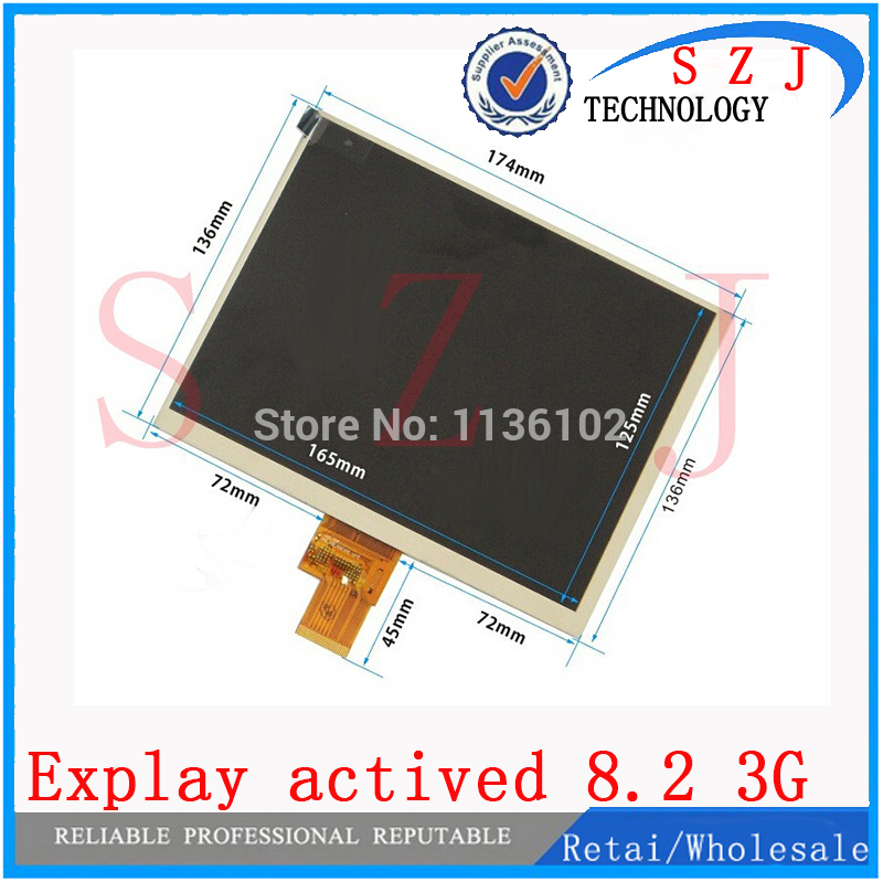 New 8 inch Explay actived 8.2 3G TABLET LCD Display Screen Panel Replacement Digital Viewing Frame Free Shipping explay для смартфона explay craft